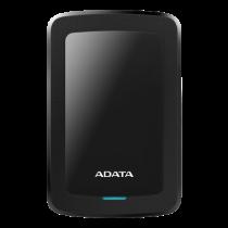 ADATA 2TB External Hard Drive, 10.3mm, USB 3.1, Quick Start, Black  AHV300-2TU31-CBK / ADATA-432