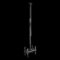 DELTACO OFFICE Телескопическое крепление спиной к спине для потолочного монтажа LED / LCD, 37-70 дюймов,