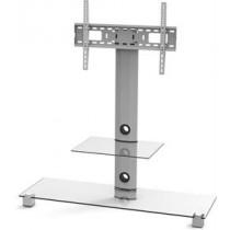 EPZI TV stand, glass, aluminum, VESA 600x400, max 40kg, Silver  / ARM-801A
