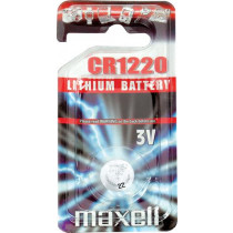 Maxell knappcellsbatteri, CR1220, Литий, 3V, 1 упаковка