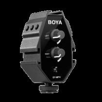 Audio adapter BOYA for smartphones, DSLR camera, black / BOYA10000