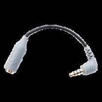 BOYA Адаптер для смартфона TRRS, 3,5 мм TRS до 3,5 мм TRRS, экранированный кабель,