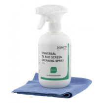 Screen Cleaner for all types of monitors, 500ml, incl. microfiber cloth DELTACO / CK1025