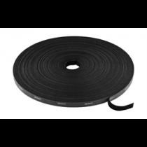 DELTACO Hook and loop fastener cable ties, width 10mm, 25m, black