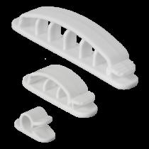 Cable clips DELTACO plastic, white / CM508
