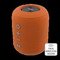 STREETZ Waterproof Bluetooth Speaker, Fabric Design, TWS, 2x5W, IPX5, Bluetooth 4.2, Orange / CM757