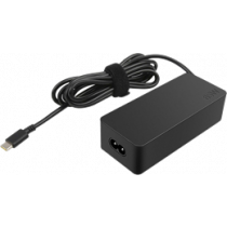 65W Power adapter, USB-C, smart voltage Lenovo black / DEL1009875