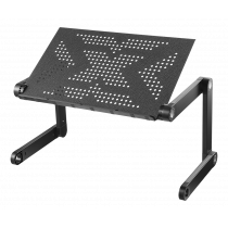 DELTACO OFFICE Портативный стол для ноутбука, регулируемый по высоте, с возможностью наклона