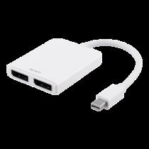 Splitter DELTACO Mini DP to DisplayPort 5.4Gbps, white / DP-905