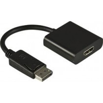 Adapter DELTACO DisplayPort to HDMI with audio, black, 0.2m / DP-HDMI13