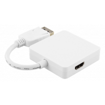 Adapter DELTACO 0.2m, white / DP-MULTI6