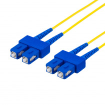 DELTACO fiberkablage SC - SC, дуплекс, одномодовый OS2, 1м