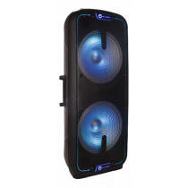 N-GEAR FLASH 3010 portable speaker, 800W, Powerbank function, black / RGB / FLASH-3010