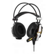 DELTACO GAMING headphone with vibration, LED, 2.1m cable, black / GAM-025