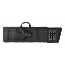 DELTACO GAMING LAN case for keyboard and mouse, zipper, velcro, black GAM-041