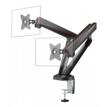 "Monitor Arm DELTACO GAMING dual, for 17""-32"" screens, VESA 75x75 / 100x100, black / GAM-102"