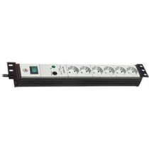 """Brennenstuhl , power outlet, 6xCEE 7/4, 1xCEE 7/7, central switch, overvoltage protection, 3m, 19 """"black 1156057396 / GT-462"""