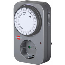 Timer for grounded outlet Brennenstuhl 24 h, 230V, gray / GT-522