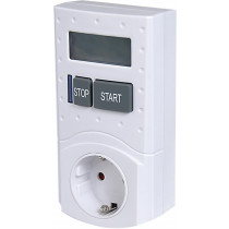 Nexa digital safety timer, max 30min, battery backup, pet protection, 16 A, 3680W, white / GT-607