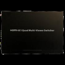 HDMI Multiviewer Switch, HDMI 4x1, Full HD, три режима отображения, черный