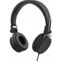 Headphones STREETZ foldable, with microphone, black / HL-221