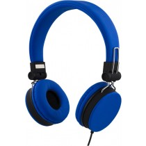 Headphones STREETZ foldable, with microphone, blue / HL-222