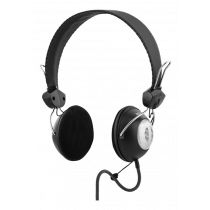 Headset with microphone DELTACO, 2m, black / HL-32