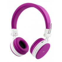 STREETZ folding Bluetooth headset with microphone, Bluetooth 4.1, 10m range, 22 hours playing time, 32, pink / HL-425