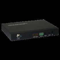 HDMI Управляемый компьютером переключатель, 4 порта, пульт дистанционного управления, 1080p, черный