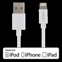 DELTACO Осветительный кабель, MFI, USB Type-A ma - Lightning ma, 50см, белый
