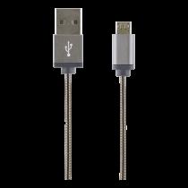 USB Sync / Charging Cable STREETZ 1m USB 2.0, 2.4A 12W gray / IPLH-277