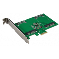 Dual mSATA SSD PCIe expansion card, 6 Gbps DELTACOIMP green / KCSSD2