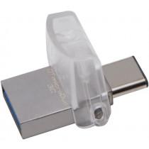 USB 3.1 memory Kingston DataTraveler microDuo 3C, 32GB, Type A ha and USB Type C, Gen 1, silver  DTDUO3C/32GB / KING-1917