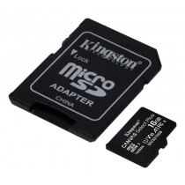 Kingston Canvas Select Plus MicroSDHC, 16GB, Class 10 UHS-I, incl. adapter, black/ KING-2975