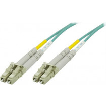 DELTACO OM3 fiberkabel LC - LC, дуплекс, многомодовый, 50/125, 7м