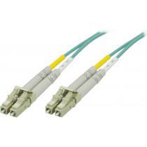 DELTACO OM3 fiberkabel LC - LC, дуплекс, многомодовый, 50/125, 2 м