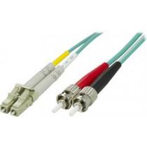 Fiber cable OM3 LC - ST, duplex, multimode, 50/125, 10m DELTACO / LCST-610
