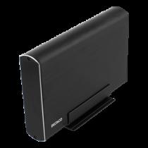 """External enclosure 1x3,5"""" SATA HDD, USB-C, USB 3.1 Gen 2 DELTACO black / MAP-GD39C"""