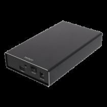 DELTACO Внешний 3,5-дюймовый жесткий диск, USB-C, USB 3.1 Gen2, 10 Гбит / с, Bla