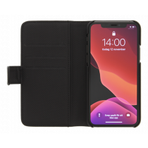 DELTACO wallet case 2-in-1, iPhone 11 Pro Max, magnetic back cover, bk