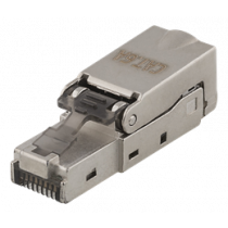 RJ45 plug Cat6A, shielded, tool-less DELTACO metal / MD-106