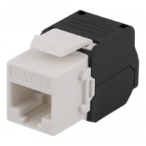 Cat6A Keystone socket, tool-free clip termination, plastic DELTACO white / MD-120