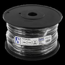 Модульный кабель, 6P, ролик, 100 м DELTACO  черный / MD-15S