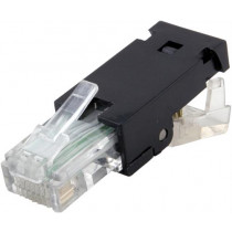 "DELTACO RJ45 connector Cat6, UTP, ""Tool-free"", black  / MD-20"