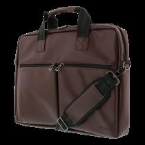 """Сумка для ноутбука DELTACO, для 15,6 """"ноутбуков, 6 карманов, коричневая"""