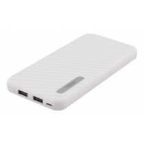 Power Bank DELTACO 10000mAh, 2.1A, 37Wh, white / PB-1062