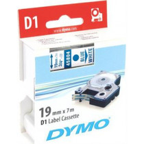 D1, brand tape, 19mm, blue text on white tape, 7m - 45804  DYMO / S0720840