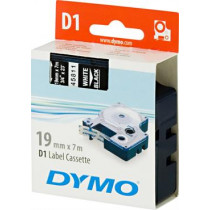 D1, brand tape, 19mm, white text on black tape, 7m - 45811 DYMO / S0720910