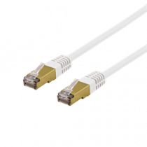 Cable DELTACO UTP, 10m, CAT6a, white / SFTP-610VAH