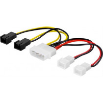 Cable DELTACO 4x3-pin / SSI-38